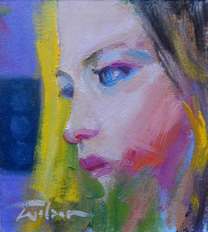 Pensive Painting - Pensive by Ron Wilson