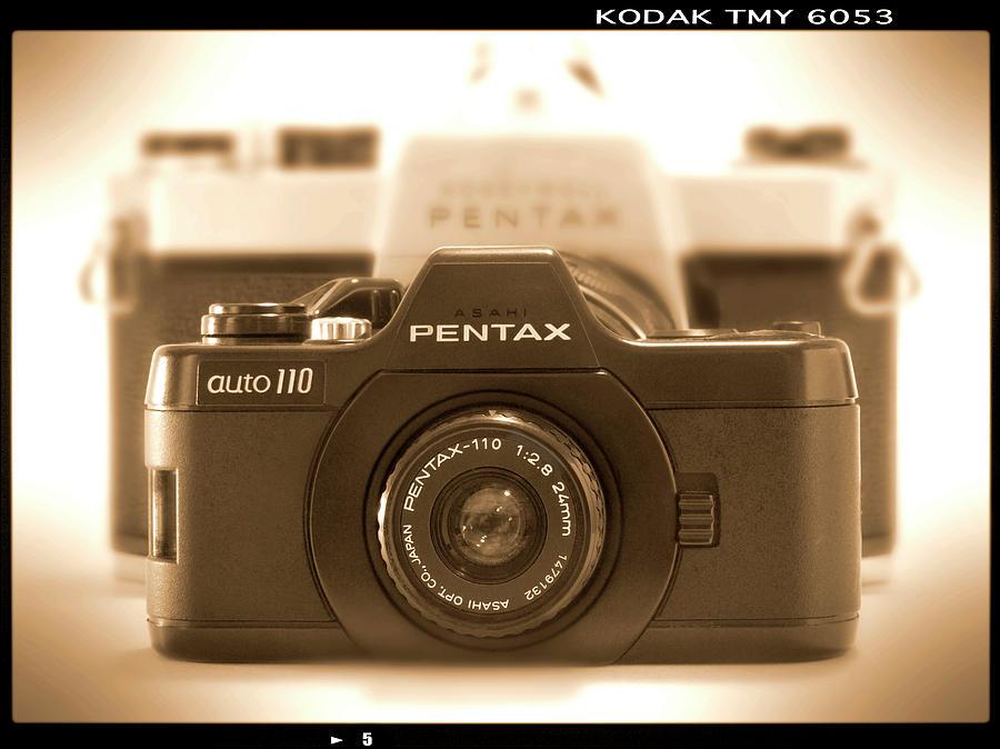 Classic Camera Photograph - Pentax 110 Auto by Mike McGlothlen