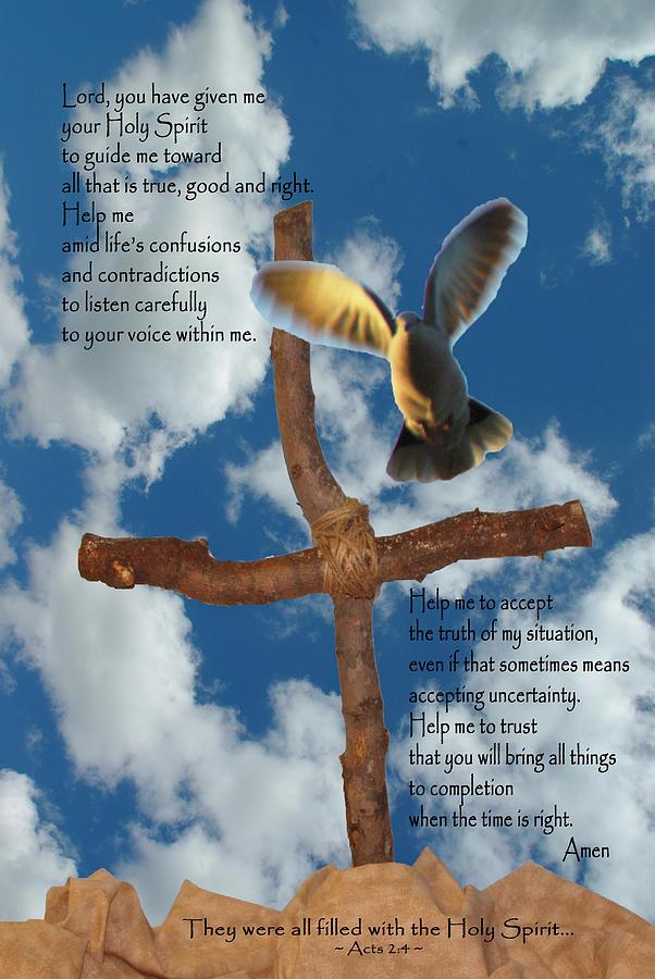 Pentecost Photograph - Pentecost Holy Spirit Prayer by Robyn Stacey