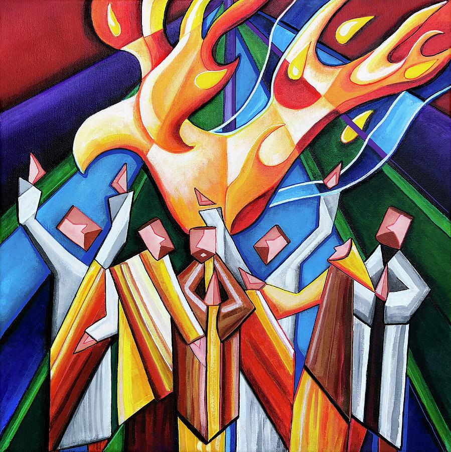 Pentecost Painting by Jennifer Allison