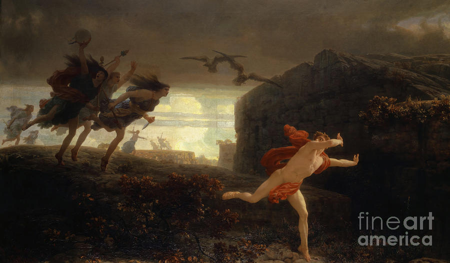 Pentheus Pursued By The Maenads Painting By Charles Gleyre