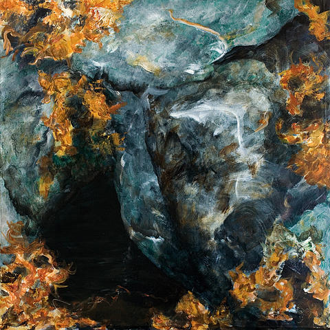 Old Stone Wall Painting - Penumbra I by Nancy Chapman