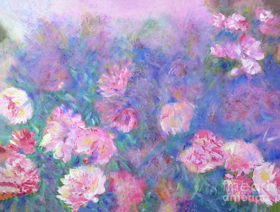 Peonies Painting - Peonies by Claire Bull