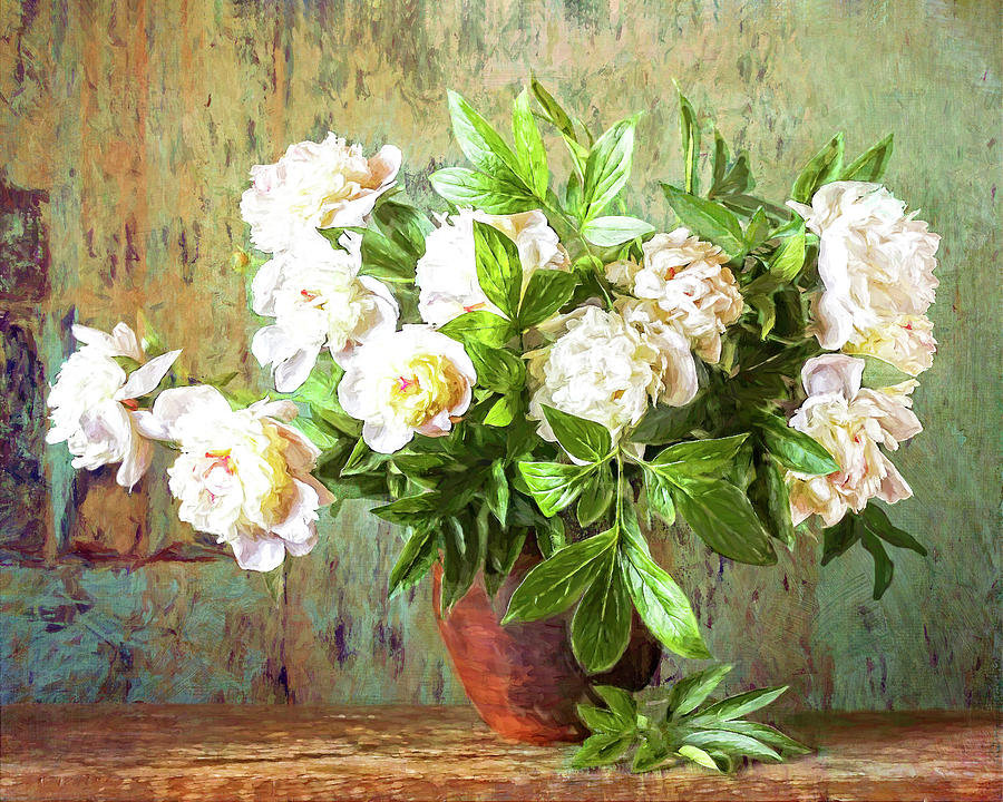 Peonies In a Vase by Sandra Selle Rodriguez