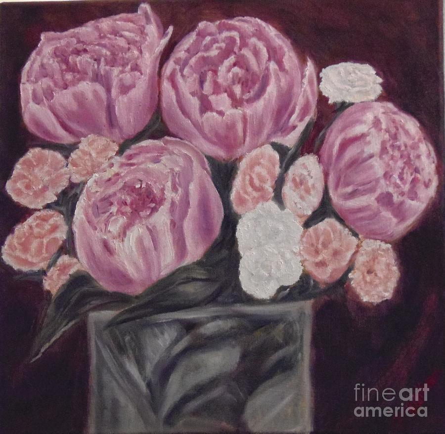 Flower Painting - Peonies by Isabel Honkonen