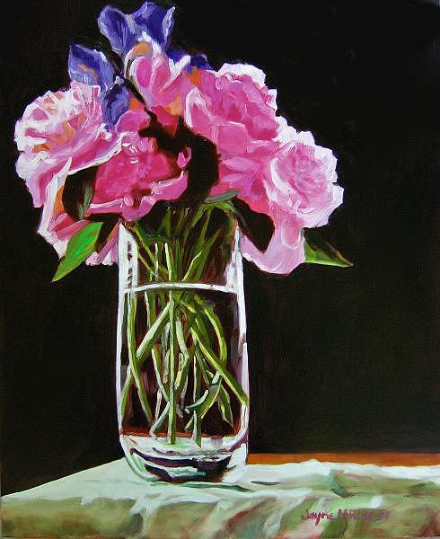 Floral Painting - Peonies Showing Off - SOLD by Jayne Rose