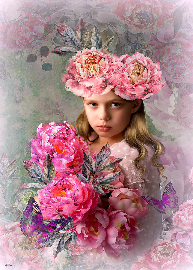 Peony Mixed Media - Peony Flower Child by G Berry