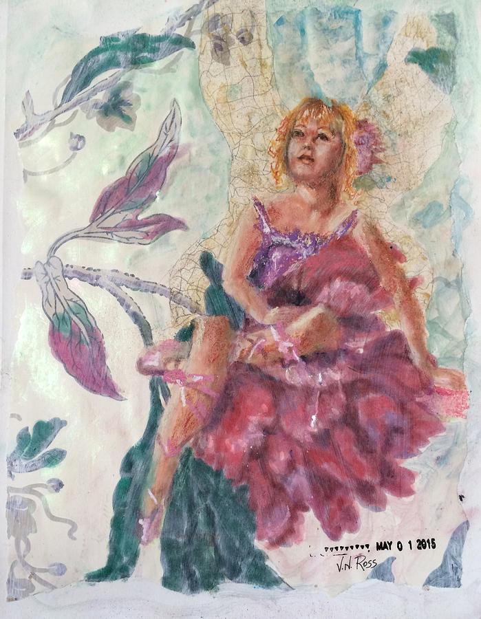 Peony Flower Fairy by Vicki Ross