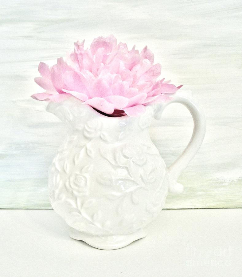 Photo Photograph - Peony In A Pitcher by Marsha Heiken