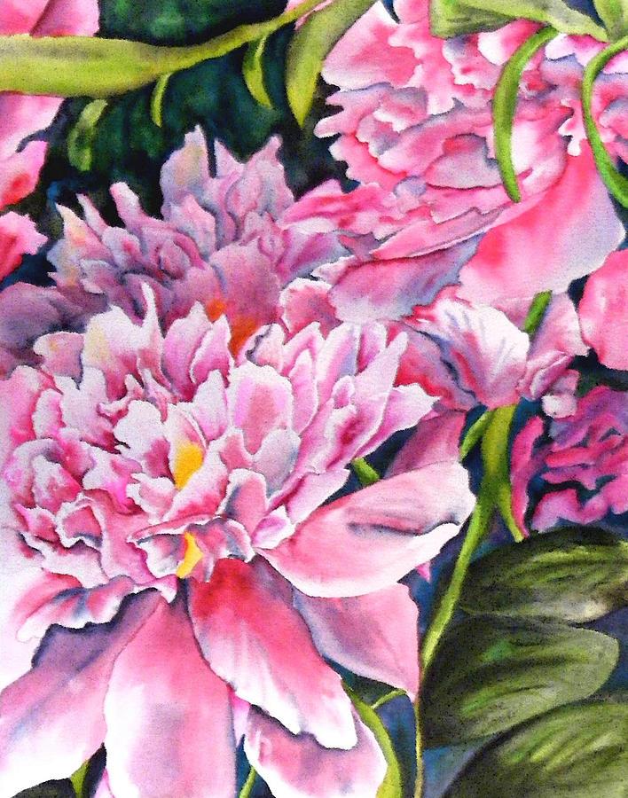 Peony Painting - Peony in Pink by Diane Ziemski