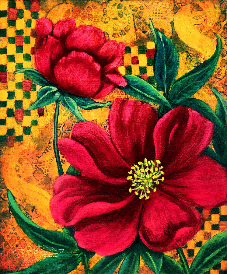 Peony Painting - Peony by Lynn Lawson Pajunen