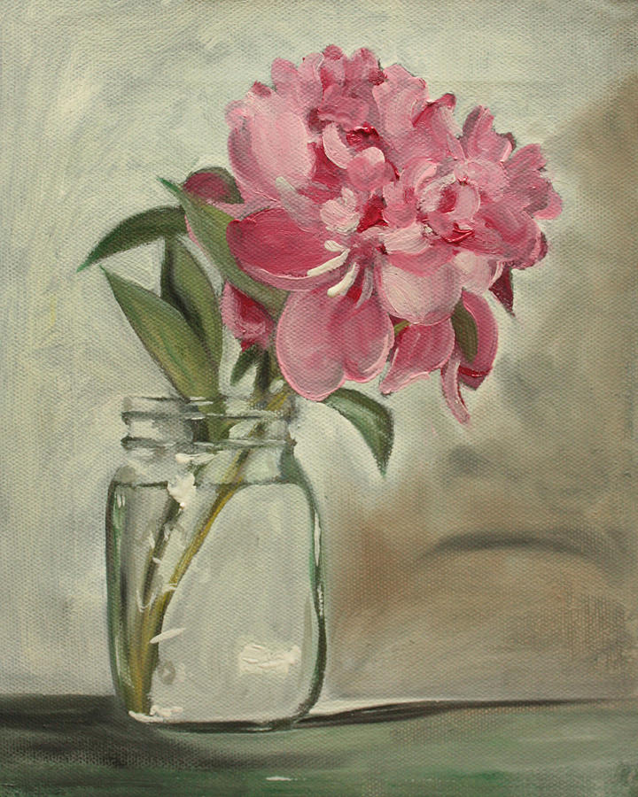 Still-life Painting - Peony by Sarah Lynch