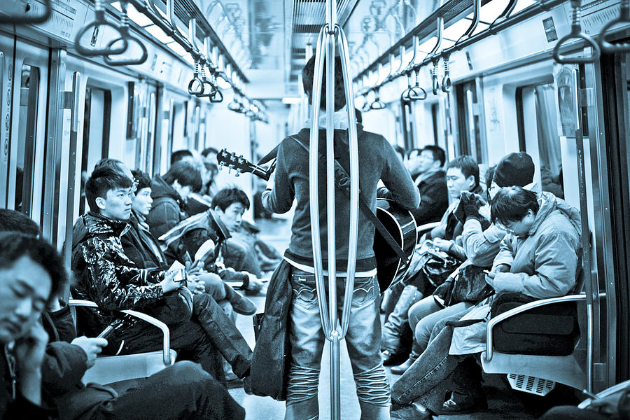 Music Photograph - People Hearing With Listening by Torchiam Sun