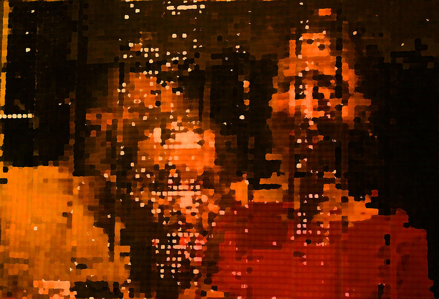 Mirror Painting - People In Mirror by Sephora Silva