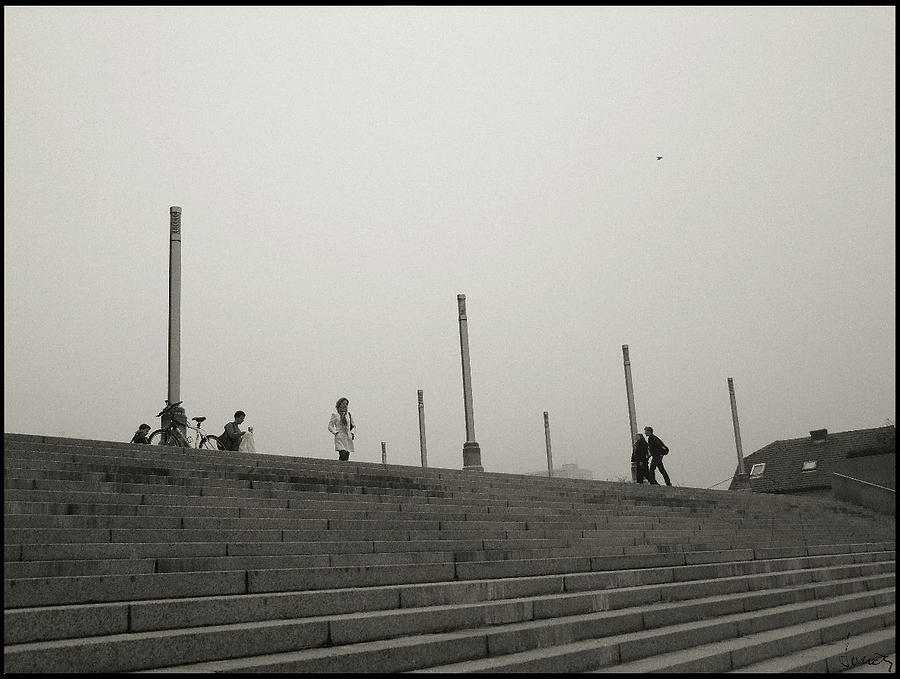 People In The Fog Photograph by Boris Loncar