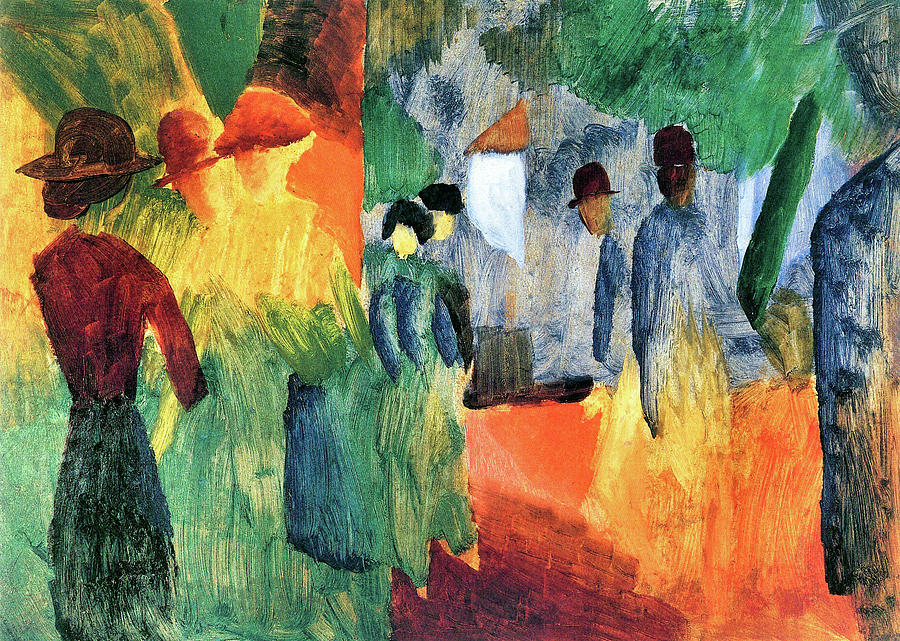 People In The Park By August Macke