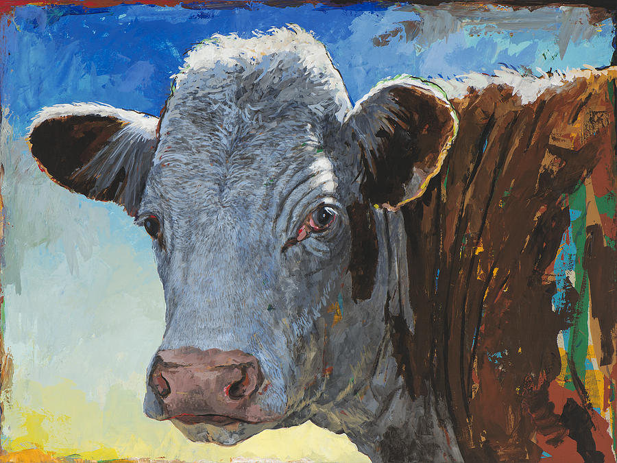 Cow Painting - People Like Cows #17 by David Palmer