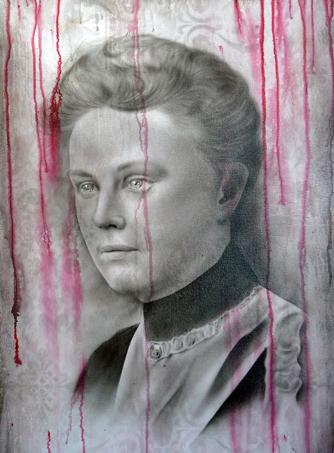 Airbrush Painting - People- Lizzie Borden by Shawn Palek