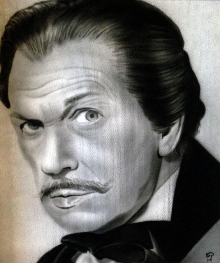 Airbrush Painting - People- Vincent Price by Shawn Palek