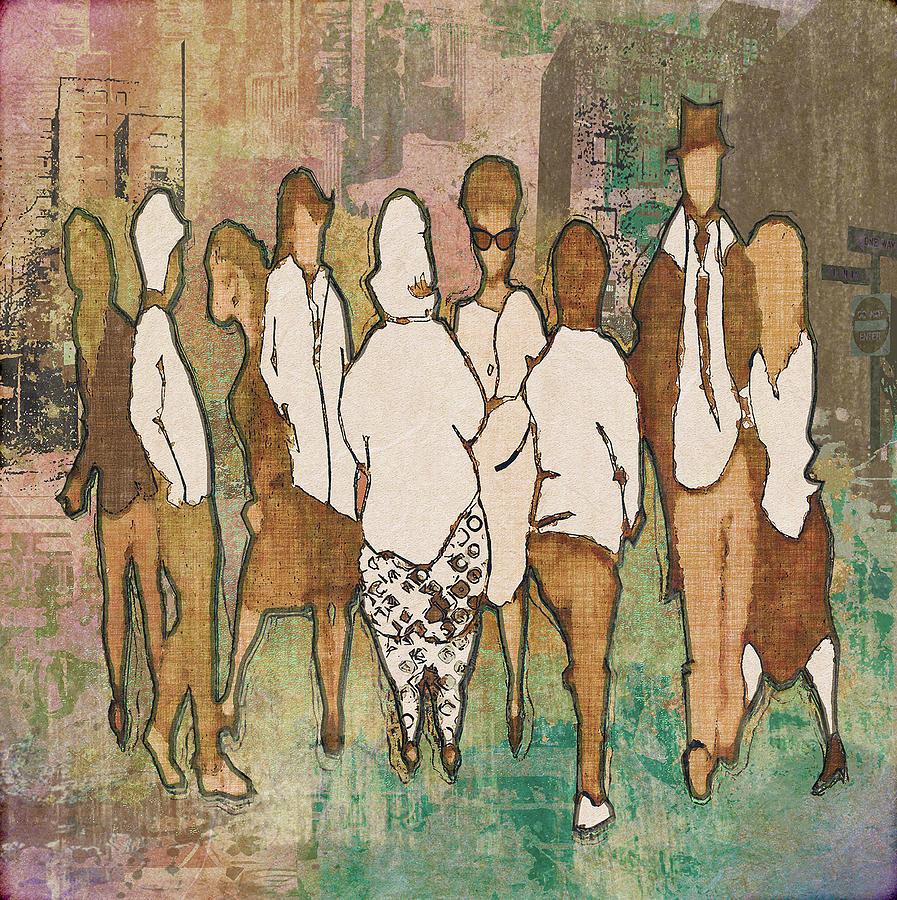 Group Digital Art - Peoples IX by Regina Wyatt