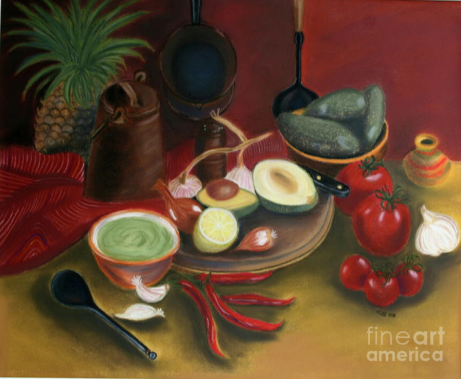 Copperware Painting - Pepare Dinner by Christiane Schulze Art And Photography
