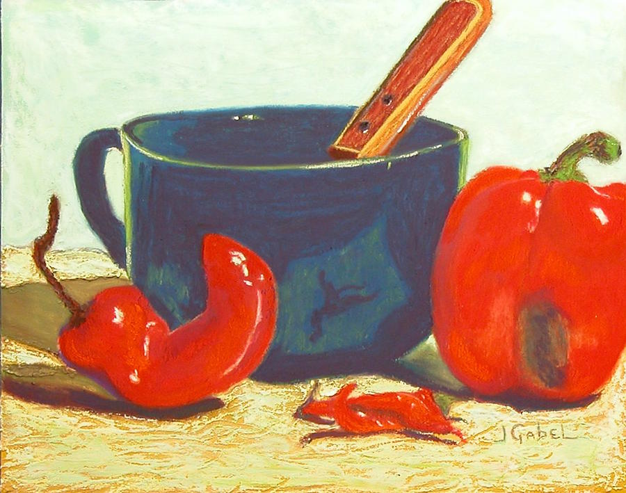 Still Life Pastel - Pepper Harvest by Laura Gabel