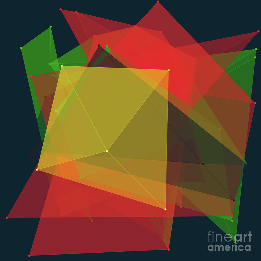 Abstract Digital Art - Pepper Polygon Pattern by Frank Ramspott