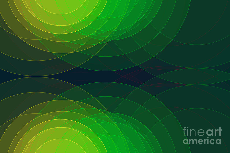 Abstract Digital Art - Pepper Semi Circle Background Horizontal by Frank Ramspott