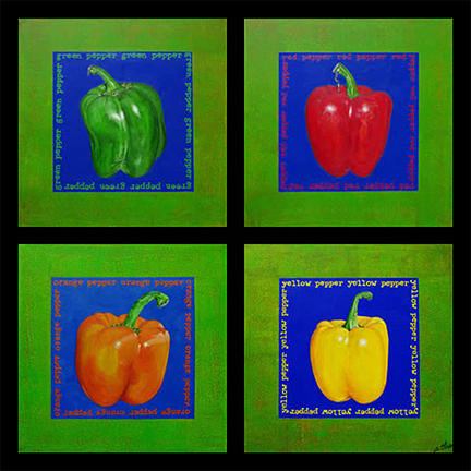 Bright Painting - Pepper Series by Sonja Olson