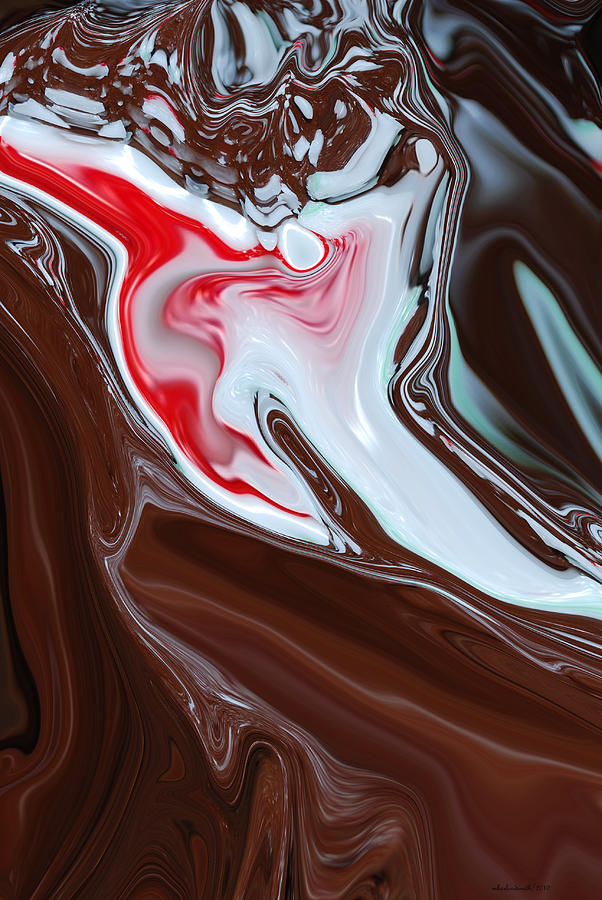 Cake Digital Art - Pepperment Chocolate Cake Abstract  by Michelle  BarlondSmith