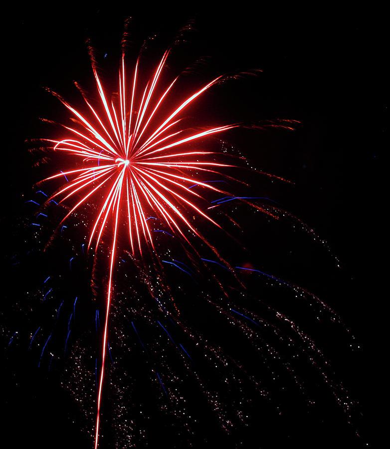 Fireworks Photograph - Peppermint Pom Pom by Kami McKeon