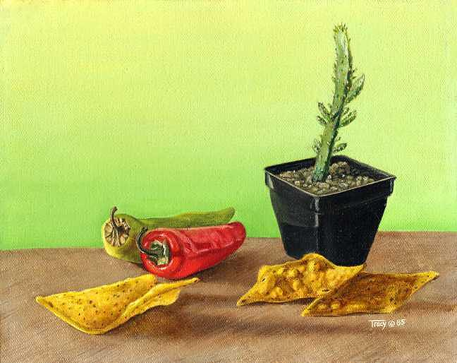 Peppers Painting - Peppers by Robert Tracy