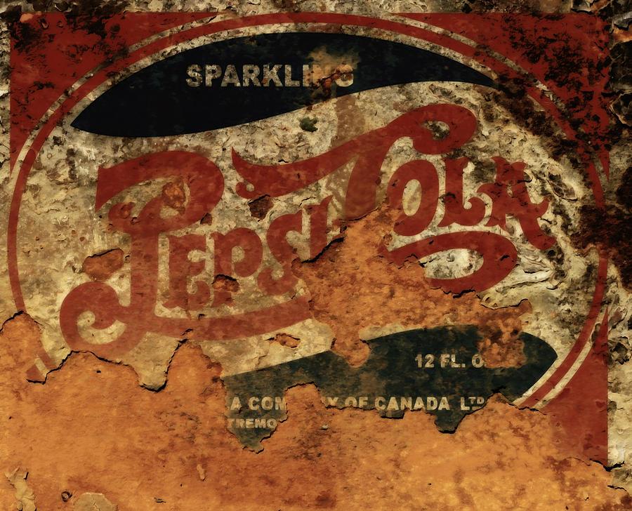 Pepsicola Mixed Media - Pepsi Cola Vintage Sign 5b by Brian Reaves