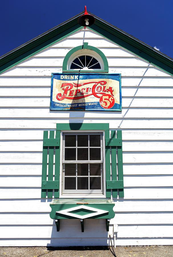 Texaco Photograph - Pepsi Window At Amblers Texaco Gas Station by John Rizzuto