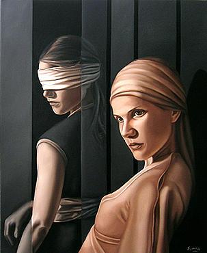 Figurative Painting - Per Motu Proprio by Mercedes Farina