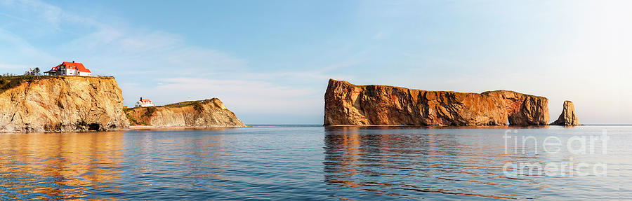 Perce Rock at Gaspe Peninsula by Elena Elisseeva