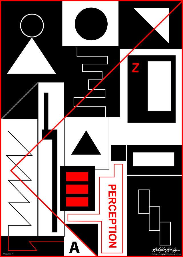 Perception Digital Art - Perception I - Text by Asbjorn Lonvig