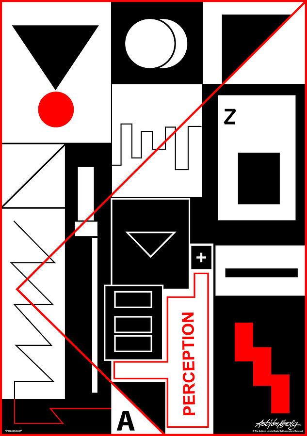 Perception Digital Art - Perception II - Text by Asbjorn Lonvig