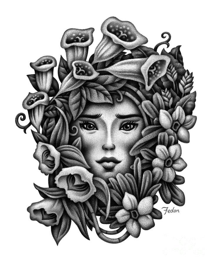 Beauty Drawing - Perception Of Beauty by David Fedan