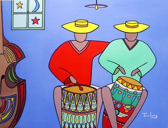 Percu-som Painting by THAIS IBANEZ  Tropical Art