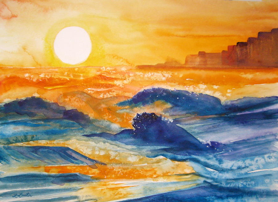 Watercolor Painting - Perdido Key Sunset by L Lauter