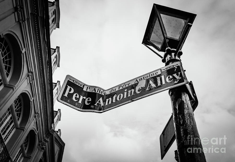 Pere Antoine Alley - New Orleans- Bw Photograph