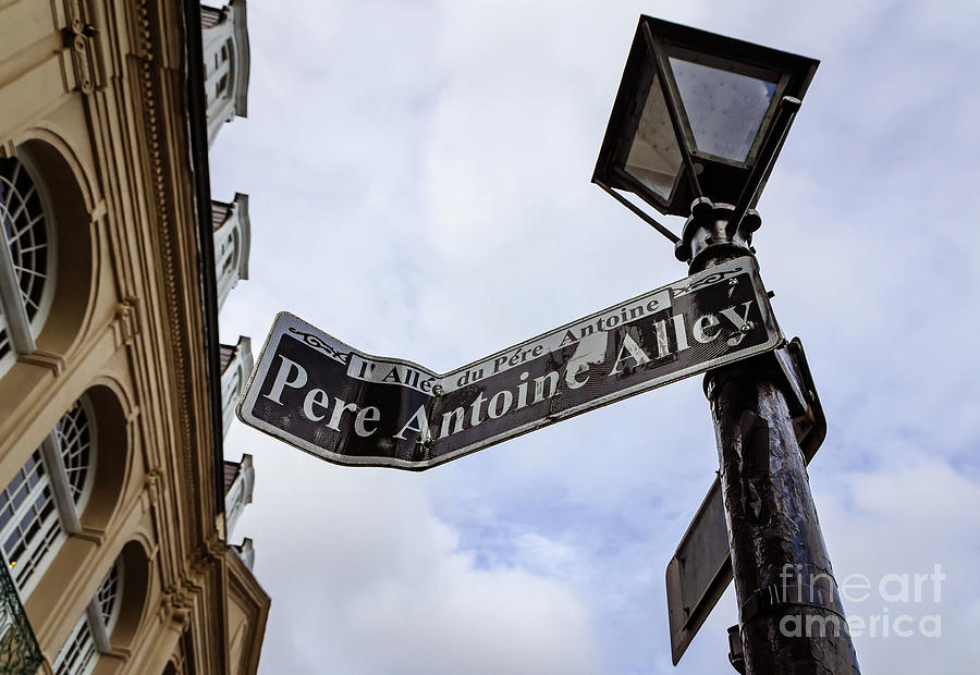 Pere Antoine Alley Sign-nola Photograph
