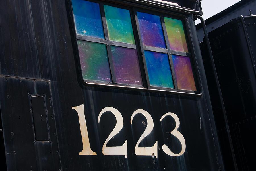 Train Photograph - Pere Marquette Locomotive 1223 by Adam Romanowicz