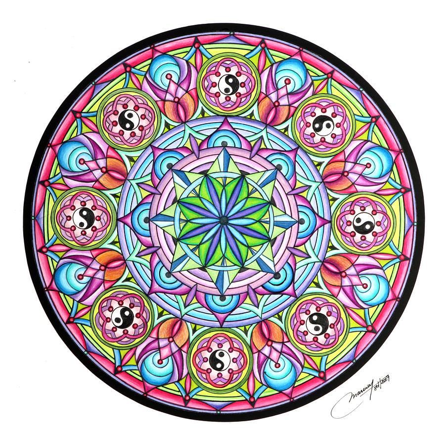 Mandala Painting - Perfect Balance by Marcia Lupo