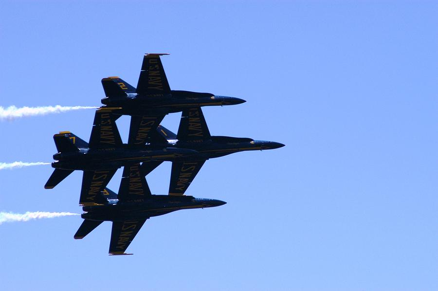Military Planes Photograph - Perfect Formation by Cheryl D