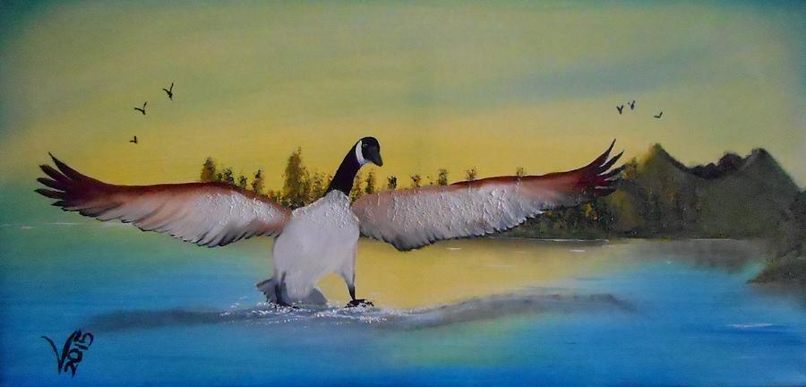 Oil Painting Painting - Perfect Landing by Valenteana J Chilsted