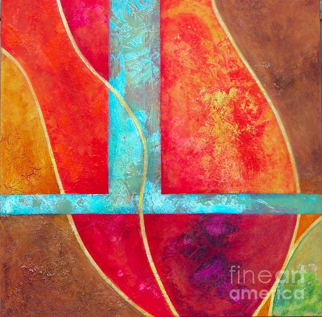 Abstract Painting - Perfect Lover by Lenore Walker
