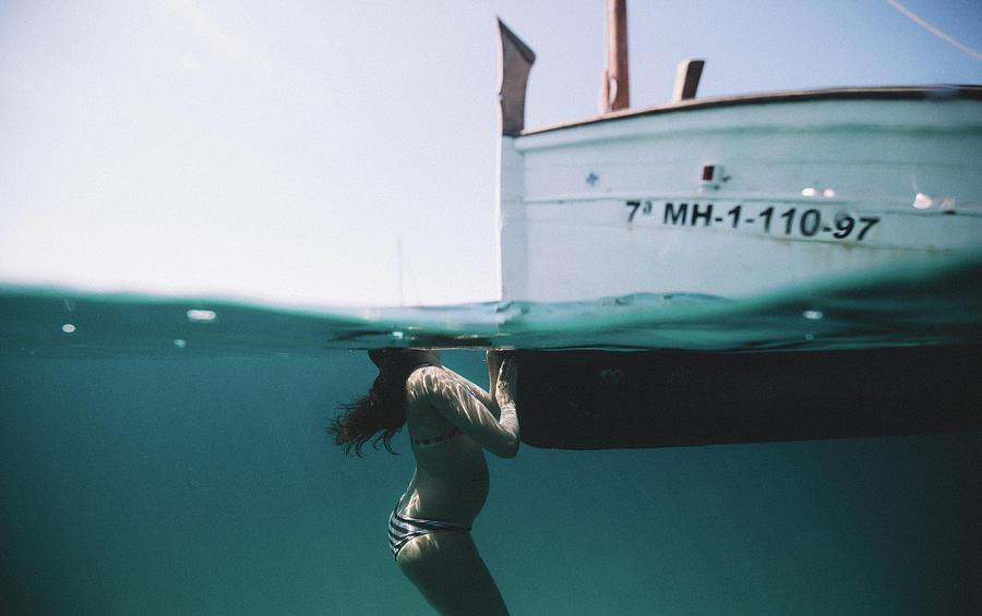 Swim Photograph - Perfect Maternity by Gemma Silvestre