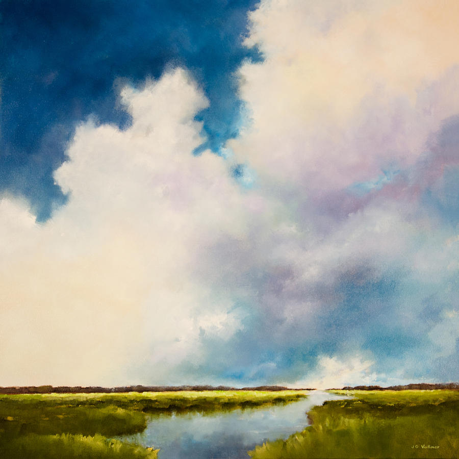 Marsh Painting - Perfect Morning by Joyce Vollmer